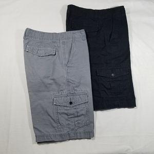 BUNDLE of two TONY HUWK boys Cargo shorts